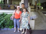 With Mrs Christine from Australia